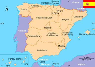 Other regions of Spain